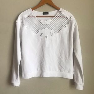 Top Shop Lace Top Sweater size 4